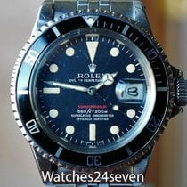 "Rolex Submariner ""Red"" Logo Dial Nice Patina, Steel..."