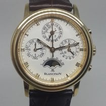 Blancpain Villeret 18k Gold Perpetual Moonphase Chronograph...