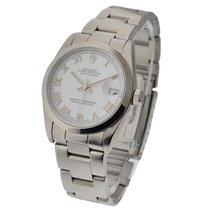 Rolex Used 78240_used_white_roman Steel Mid Size Datejust with...
