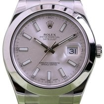 Rolex Datejust II 116300 Index Silver 41mm Stainless Steel