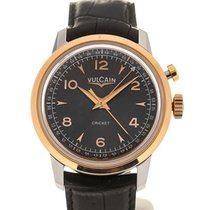 Vulcain Heritage Presidents'Watch 39 Pink Gold Charcoal L.E.