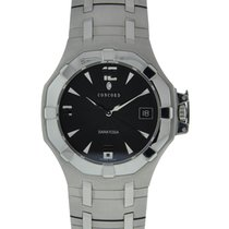 Concord Saratoga Sl Stainless Steel Black Dial Stainless Steel...