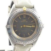 Breitling Vintage Herren Uhr Automatik 41mm Stahl/stahl Rarität