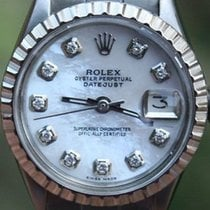 Rolex Steel Ladies 26mm Datejust Watch Warranty Vintage 1969...