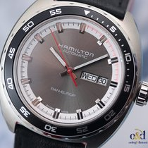 Hamilton Pan Europ Automatic 42mm Steel Grey Indexes Men's...
