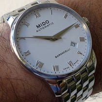 Mido Baroncelli Gent White Dial Data Romans Numbers M86004261