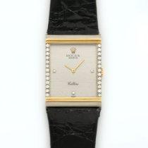 Rolex White & Yellow Gold Cellini Diamond Strap Watch