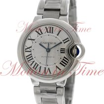 Cartier Ballon Bleu 33mm Automatic, Silver Dial - Stainless...