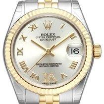Rolex Datejust 31 Edelstahl Gelbgold 178273 Silber Römisch Dia