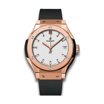 Hublot Classic Fusion  33mm Quartz 18K Rose Gold Mens Watch...