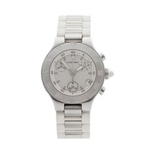 Cartier Must de 21 Chronoscaph Stainless Steel Ladies 2996 -...