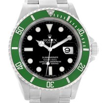 Rolex Submariner 50th Anniversary Kermit Green Bezel Watch...