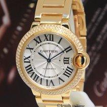 Cartier Ballon Bleu 18k Yellow Gold Diamond 36mm Watch...