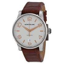 Montblanc Timewalker Automatic Silver Dial Brown Leather...
