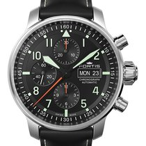 Fortis Flieger Professional Chrono Auto Watch Day/date Black...