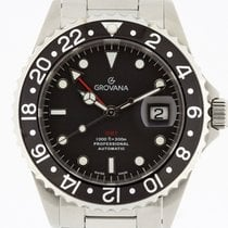 Grovana Automatic Diver GMT BLACK Bezel NEW 2 Years Warranty...