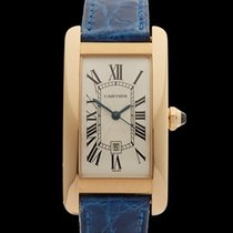 Cartier Tank Americaine 18k Yellow Gold Ladies 1725