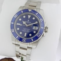Rolex 116619 SUBMARINER WHITE GOLD BLUE BEZEL/DIAL RET: $36,850
