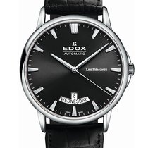 Edox .. Les Bemonts Day-Date Automatic NEW FULL SET