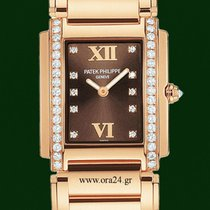 Patek Philippe Twenty 4 Lady Diamonds 18k Rose Gold Box&Pa...