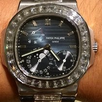 Patek Philippe Nautilus White Gold with Diamond Baguette