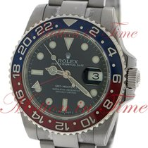 "Rolex GMT-Master II ""Pepsi"", Black Dial, Red/Blue..."