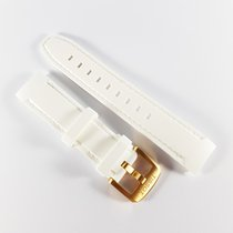 Tissot Quickster 19mm white rubber strap with pin buckle NEW