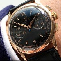 Omega Serviced 36mm Omega Vintage Chronograph 18ct solid pink...