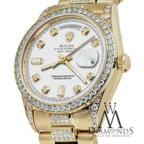 Rolex Presidential Day-date 36mm White Accent Diamond Watch 18...