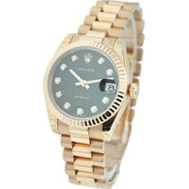 Rolex Unworn 178275 Mid Size Rose Gold President with Fluted...