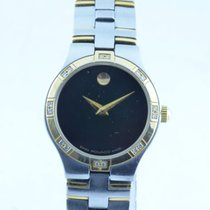 Movado Museum Damen Watch Uhr Rar Stahl Vergoldet Top Quartz...