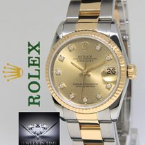 Rolex Datejust 18k Yellow Gold/Steel Champagne Diamond Dial...