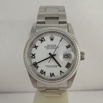 Rolex datejust ref. 16220 anno 2004 dial bianco oyster box