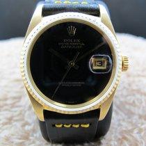 Rolex DATEJUST 16018 18K YG with Original Onyx Dial