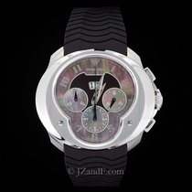 Franc Vila FVa8ch Chronograph Big Date Black Mother of Pearl Dial