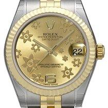 Rolex Datejust 31 Edelstahl Gelbgold 178273 Champagner Floral Jub
