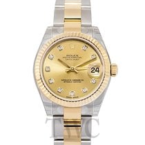 Rolex Datejust Lady 31 Champagne/18k gold 31mm G Oyster - 178273