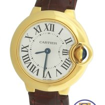 Cartier Ballon Bleu 28mm W6900156 18K Yellow Gold Silver Quartz