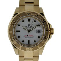 Rolex 40mm Yacht-master 18kt Yellow Gold White Dial On Oyster...