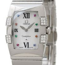Omega Constellation Quadrella Tonneau Diamonds Women Watch...