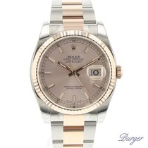 Rolex Datejust 36 Rolesor Everose Fluted NEW