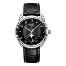 Hermès Arceau Grande Lune 43mm Steel Mens Automatic Watch Ref...