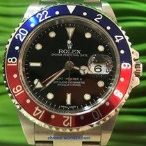 Rolex GMT-Master II Ref. 16710 Pepsi Stick dial LC100 unpolish...