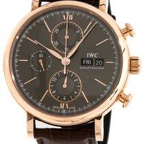 IWC Portofino Chronograph 18CT Red Gold Case Slate Dial...