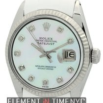Rolex Datejust Stainless Steel 36mm RubberB MOP Diamond Dial