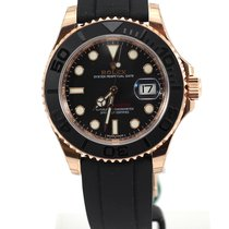 롤렉스 (Rolex) Yachtmaster new model rose gold ceramic bezel rubber