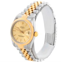 Rolex Datejust Midsize Steel 18k Yellow Gold Womens Watch 68273