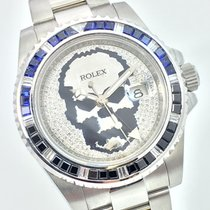 Rolex GMT MASTER II BatMan Skull Baguette Diamond BLNR Blue Black