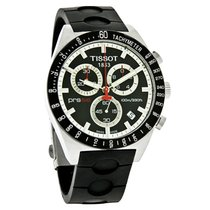 Tissot PRS 516 Chronograph Mens Black Rubber Strap Watch...