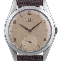 Omega Cream Dial Arab Numbers Vintage  Stainless Steel